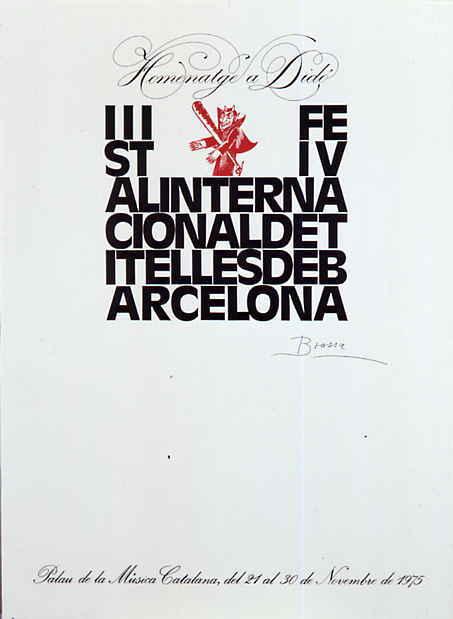 Cartell realitzat per Brossa en homenatge a Didó, novembre de 1975