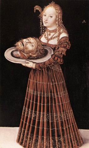Salomé amb el cap de Sant Joan Baptista. Lucas Cranach