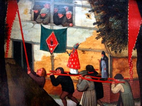 Detall de La processó. Pieter Brueghel