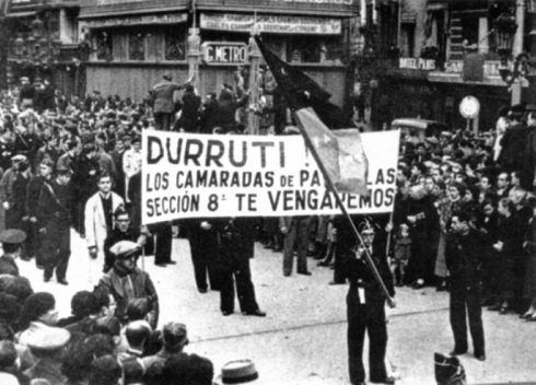 Enterrament de Buenaventura Durruti a Barcelona.